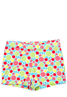 J Khaki Knit Multi Dot Printed Short Toddler Girls