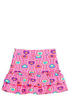 J Khaki Heart Print Skirt Toddler Girls