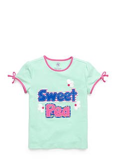 J Khaki™ Short Sleeve 'Sweet Pea' Tee Toddler Girls