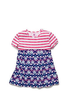 J Khaki™ Stripe to Paisley Babydoll Top Toddler Girls