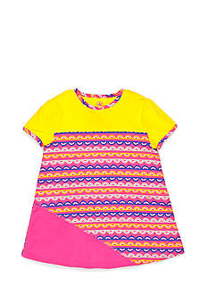 J Khaki™ Scallop Striped Print Babydoll Tee Toddler Girls