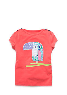 J Khaki™ Short Sleeve Toucan Top Toddler Girls