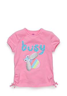 J Khaki™ Short Sleeve Busy Bee Top Toddler Girls