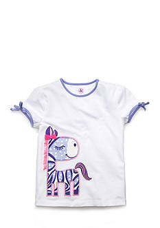 J Khaki™ Glitter Printed Zebra Top Toddler Girls