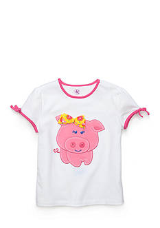 J Khaki™ Short Sleeve Piggy Top Toddler Girls