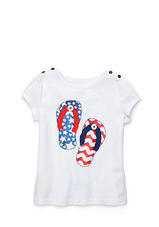 J Khaki™ Flip Flop Top Toddler Girls