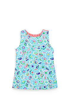 J Khaki™ Floral Print Babydoll Top Toddler Girls