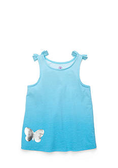 J Khaki™ Ombre Bow Tank Top Toddler Girls
