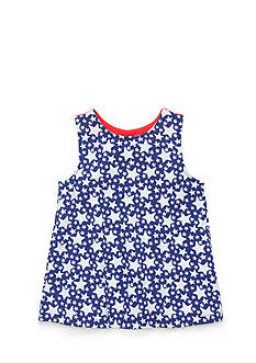 J Khaki™ Stars Bow Back Babydoll Top Toddler Girls