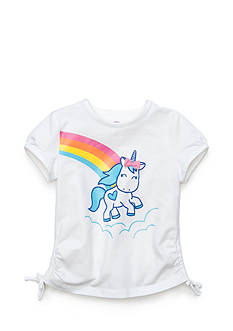 J Khaki™ Printed Unicorn Top Toddler Girls