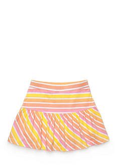 J Khaki™ Stripe Ruffle Scooter Toddler Girls