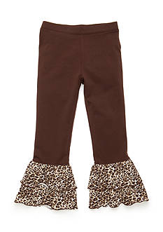 J Khaki™ Animal Ruffle Pants Toddler Girls