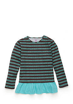 J Khaki™ Striped Baby Doll Top Toddler Girls