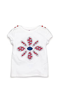 J Khaki™ Flower Top Toddler Girls