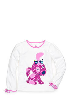 J Khaki™ Dot Puppy Top Toddler Girls