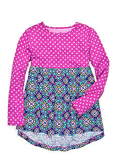 J Khaki™ Dot Medallion Babydoll Top Toddler Girls