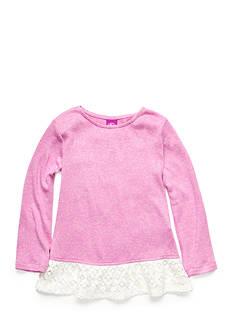 J. Khaki Lace Trim Babydoll Top Toddler Girls