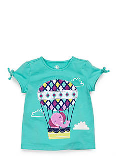 J Khaki™ Balloon Elephant Top Toddler Girls