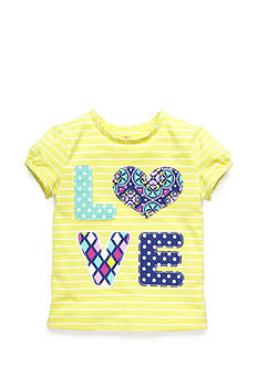 J Khaki™ Stripe 'Love' Tee Toddler Girls