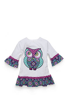 J Khaki™ Owl Babydoll Top Toddler Girls
