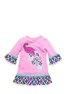 J Khaki™ Peacock Babydoll Top Toddler Girls