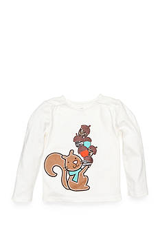J. Khaki Long Sleeve Squirrel Tee Toddler Girls