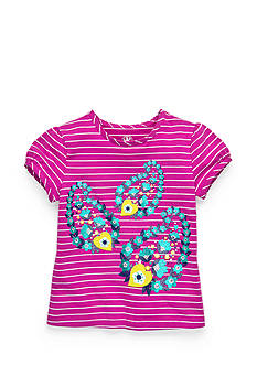 J Khaki™ Stripe Paisley Top Toddler Girls