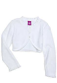 J Khaki Ruffle Shrug Toddler Girl