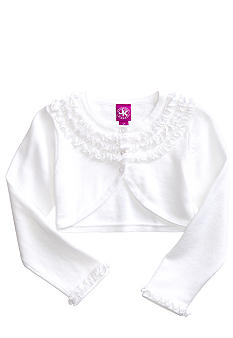 J Khaki Ruffled Shrug Toddler Girls