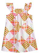 J Khaki™ Patchwork Print Dress Toddler Girls