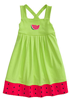J Khaki Watermelon  Dress Toddler Girls
