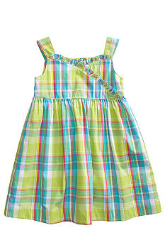 J Khaki Plaid Dress Toddler Girls