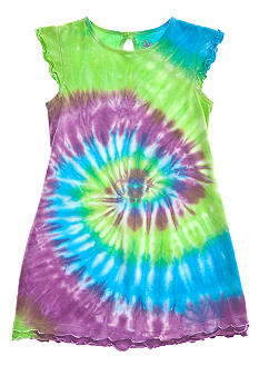 J Khaki Tie Dye dress Toddler Girls