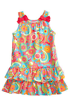 J Khaki Paisley Printed Dress Toddler Girls