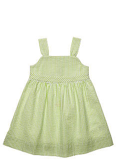 J Khaki Back Detail Seersucker Dress Toddler Girls