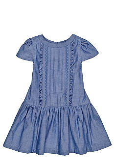 J Khaki Chambray Dress Toddler Girls