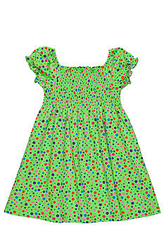 J Khaki Dotted Dress Toddler Girls