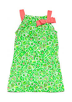 J Khaki™ Floral Print Dress Toddler Girls