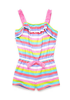 J Khaki™ Ruffle Striped Romper Toddler Girls