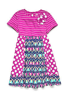 J Khaki™ Multi Pannel Knit Dress Toddler Girls