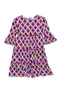 J Khaki™ Stain Glass Tiered Dress Toddler Girls