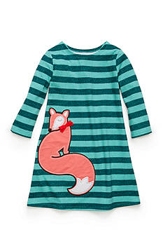 J. Khaki Stripe Fox Dress Toddler Girls