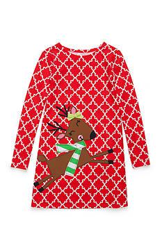 J. Khaki Reindeer Dress Toddler Girls