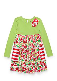 J. Khaki Knit Dress Toddler Girls