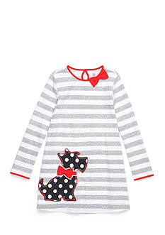 J. Khaki Scottie Dress Toddler Girls