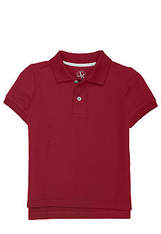 J Khaki Solid Basic Pique Polo Toddler Boy