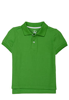 J Khaki Solid Fashion Pique Polo Toddler Boy