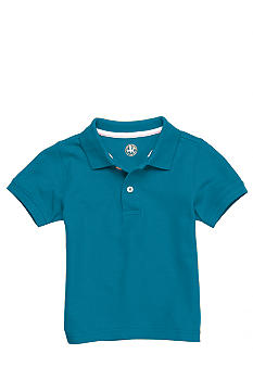 J Khaki Solid Pique Polo Toddler Boy