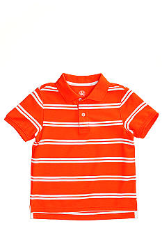 J Khaki Short Sleeved Stripe Polo Toddler Boys