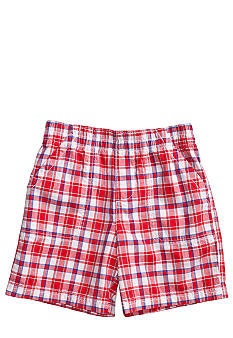 J Khaki Plaid Pork Chop Short Toddler Boy